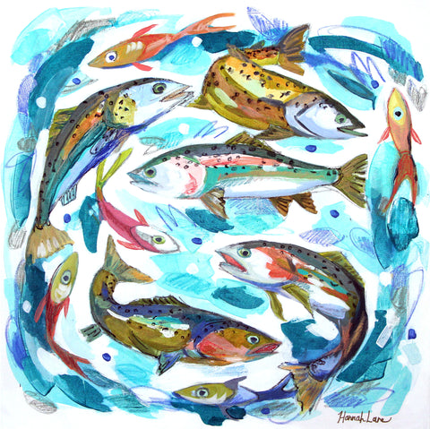 Swirling Trout 3- Hannah Lane