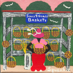 Basket Lady (Blue Sign)