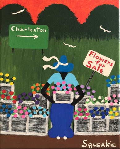Flower Lady (White Sign)