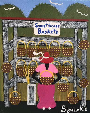 Basket Lady (White Sign)