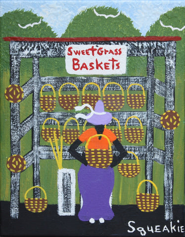 Basket Lady (Purple Hat)