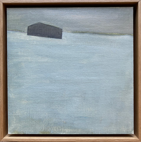 Barn in Fields of Grey