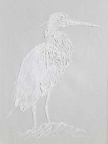 Sculpted Blue Heron