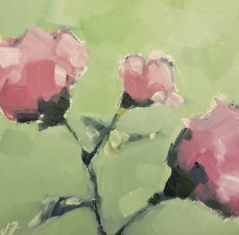Three Pink Flowers- Jeremy Fowler