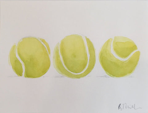 Three Tennis Balls - Katherine Stratton Miller