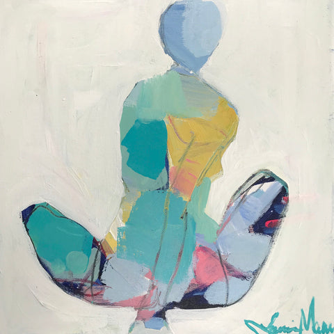 Woman in Teal and Yellow- Lanie Mann