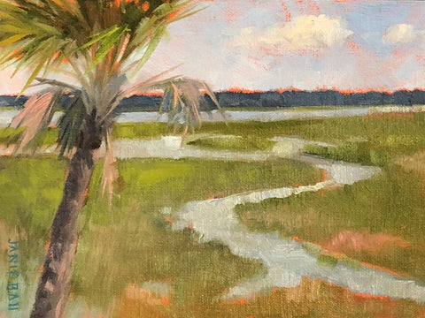 Lone Palmetto Tree- Janie Ball
