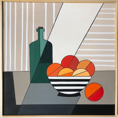 Oranges With Green Bottle II- Cindy DeAntonio