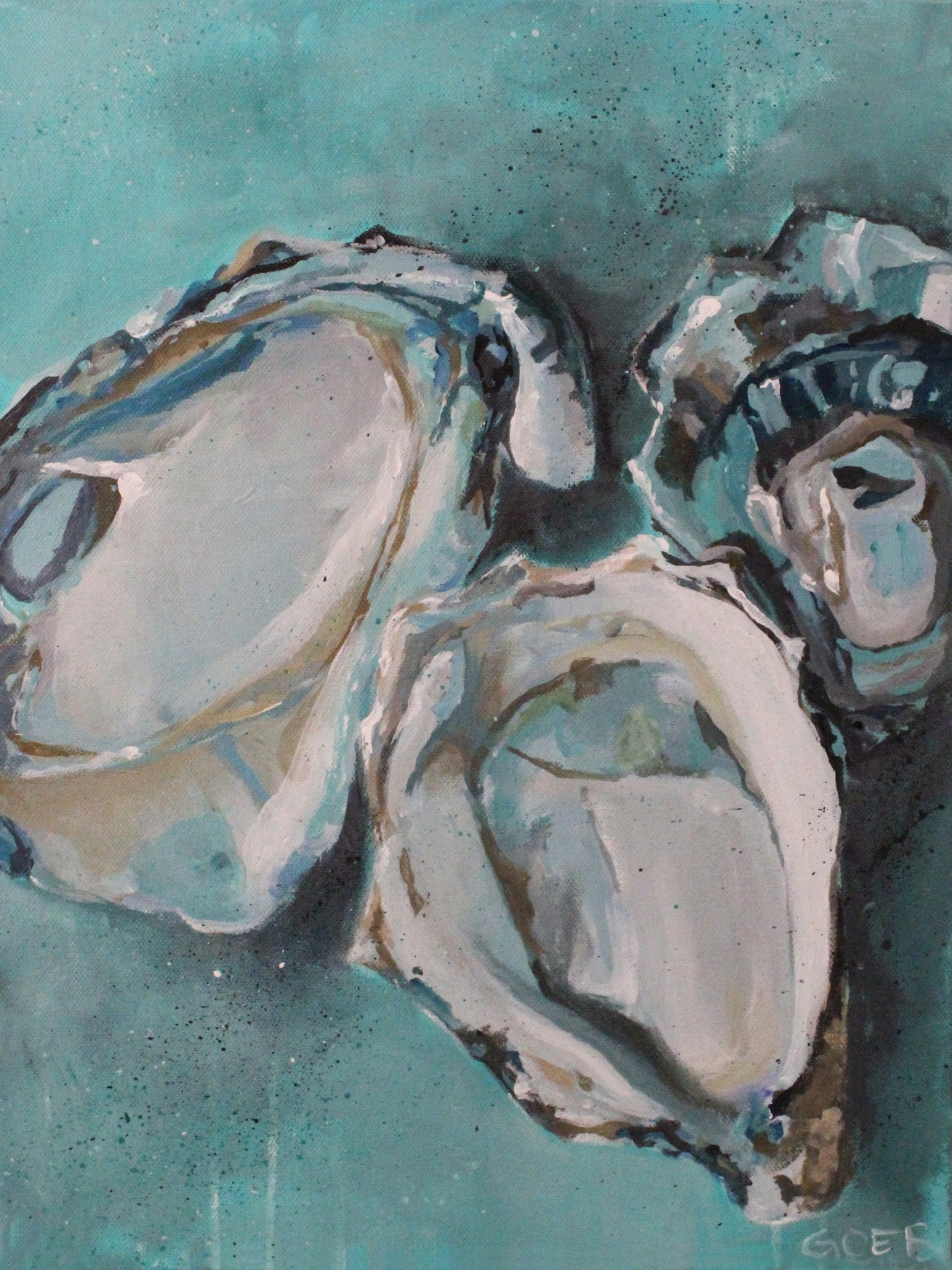Oysters in Turquoise