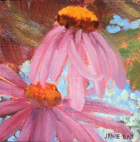 Purple Cone Flowers- Janie Ball