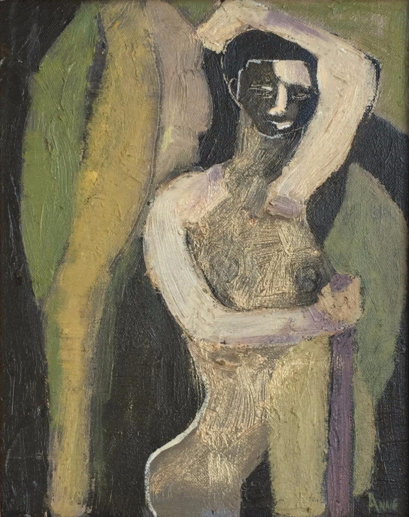 Figure With Palm Leaves