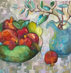 Pomegranate and Olive Twig - Lynne Hamontree