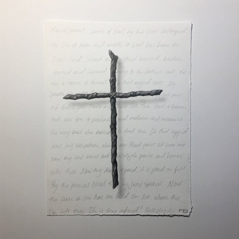 Cross With Writing