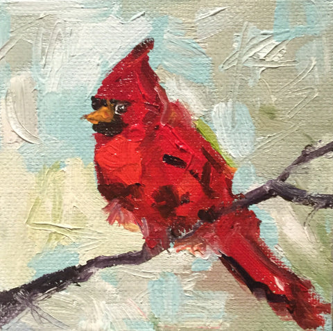 Cardinal in the Winter - Susie Elder