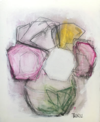 Flower Study with Charcoal- Sarah Trundle