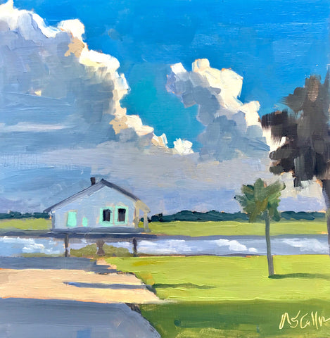 Sunlit Clouds Over the Creek- Susie Callahan