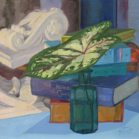 Caladium and Books - Susan Trott