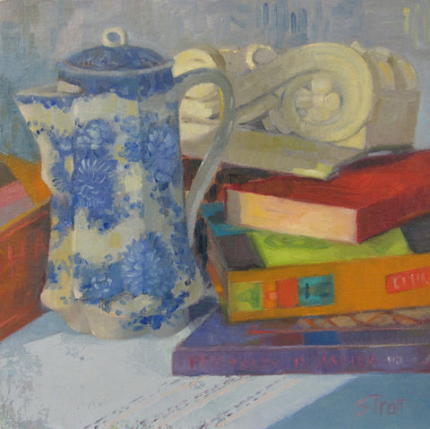 Teapot and Books - Susan Trott