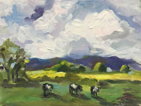 Cows in the Valley - Susie Elder