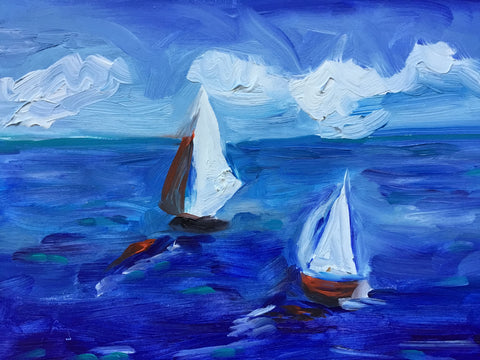 Sailing On The Ocean Blue- Susie Elder