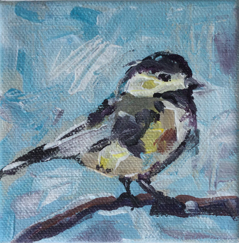 Chickadee in Blue - Susie Elder