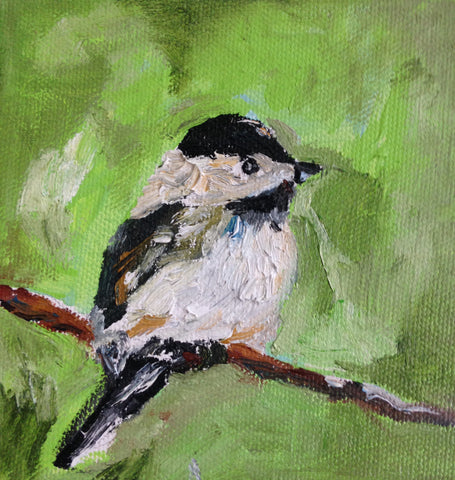 Chickadee in Green - Susie Elder