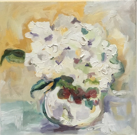 Hydrangeas and Cranberries- Susie Elder