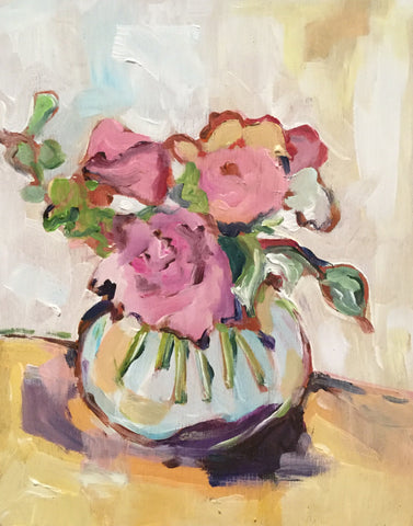 Peonies and Rose - Susie Elder