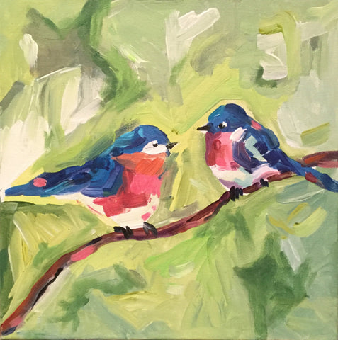 Two Blue Birds - Susie Elder