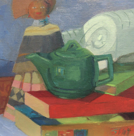 Teapot, Doll, and Books - Susan Trott
