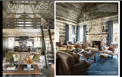 above: Veranda Magazine, October 2015, featured article Cabin Class: Painting over fireplace: Jane Ingols of Atlanta Artist Collective; Interior Design by Tammy Conner.
