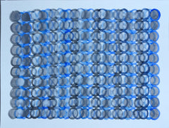 Blue Gray Circles - Wendy Doak