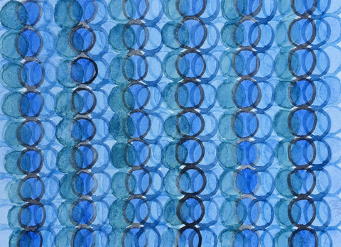 Blue Sea Green Circles - Wendy Doak