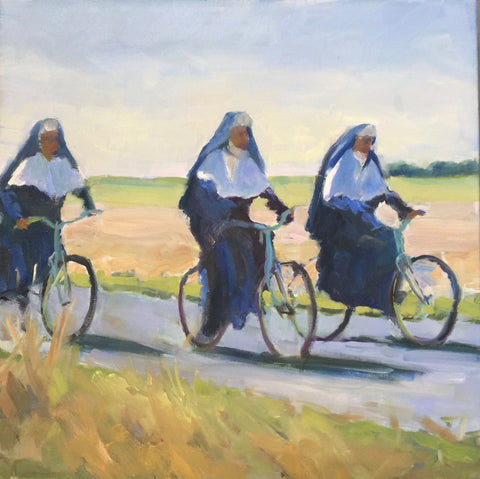 Cycling Sisters - Anne Strickland