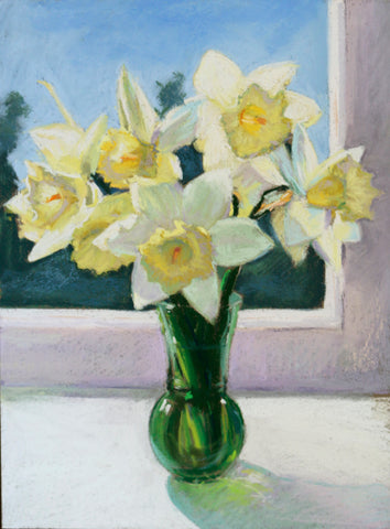 Daffodils on a Windowsill - Lisa Gleim