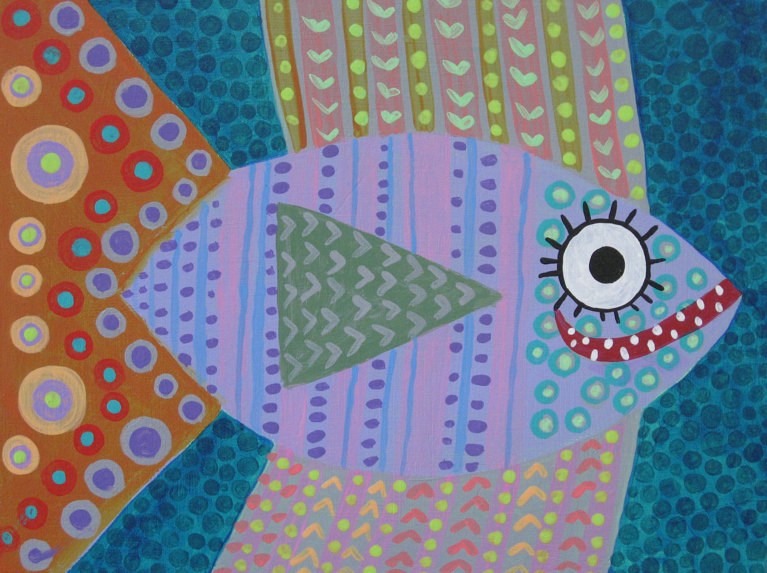 Fish with Dot and Stripes