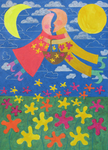 Flower Power Moon People - Linda Elksnin