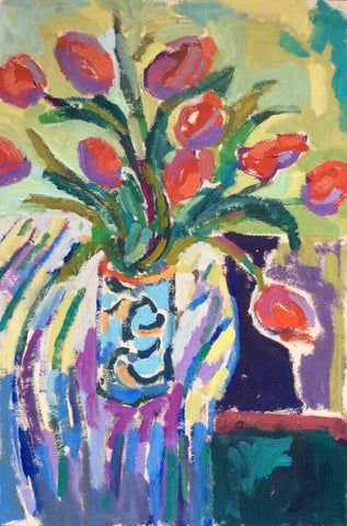 Still Life with Red Tulips- Lynne Hamontree