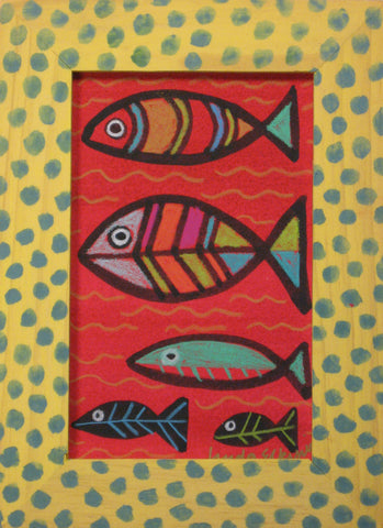 Rainbow Fish in Polka Dot Frame- Linda Elksnin
