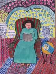 Reader and Chinese Vases - Linda Elksnin
