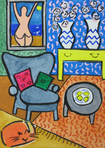 Room With Two Vases- Linda Elksnin