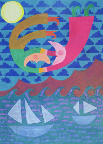 Sailing Moon People - Linda Elksnin