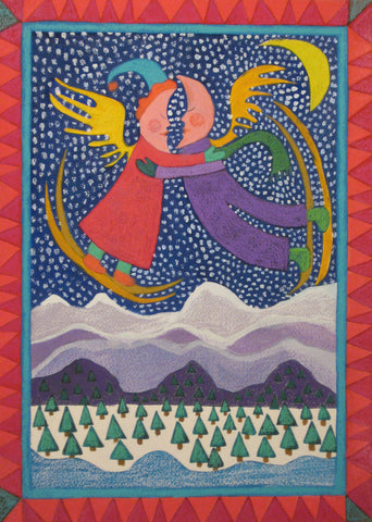 Skiing Mountain Moon People - Linda Elksnin