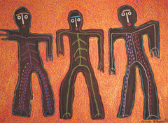 Three Skeleton Men- Linda Elksnin