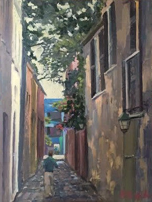 Charleston Cobbleston Alleyway