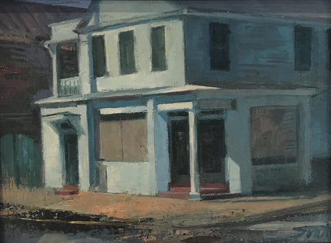 Council Street Corner, Blue - Susan Trott