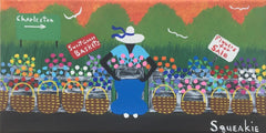 Flower and Basket Lady - Squeakie