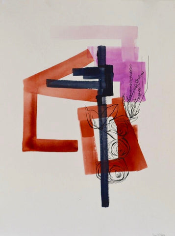 Abstract On Paper 1 (framed) - Lisa Zager
