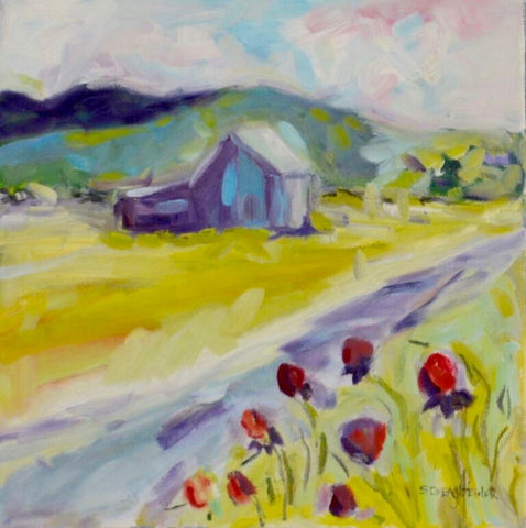 Blue Barn in the Valley - Susie Elder
