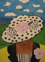 Girl in Black and White Hat- Linda Elksnin
